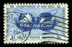 Atoms For Peace US Postage Stamp Stock Photo