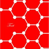 Atoms on red background Royalty Free Stock Photography