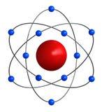 Atomstruktur Stockfoto