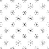 Atomu bezszwowy deseniowy tło Obrazy Stock