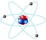 Atomu diagram w wielkiej skala Obraz Royalty Free
