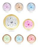 Atomu ikony kolekcja Obrazy Royalty Free
