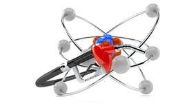 Atomu model z benzyny nozzle Ilustracji