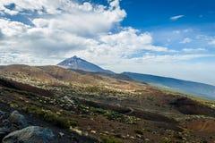 Atones och lavaökenfält av Pico del Teide Royaltyfria Bilder