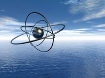 Atoom in grafisch zeegezicht Vector Illustratie