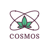 Atoom met aardwetenschap Kosmos Milieuvriendelijke transportmiddelen en vernieuwbare energie Vector illustratie royalty-vrije illustratie