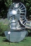 Atoomart sculpture bij Biosfeer 2 in Oracle in Tucson, AZ stock afbeeldingen