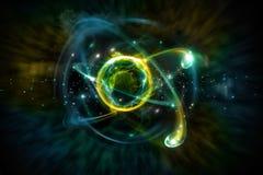 Atoomdeeltjes 3D Illustratie Stock Fotografie