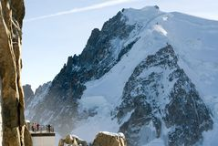 Atop Aiguille du Midi, France Royalty Free Stock Image