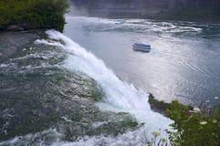 Atop American Falls at Niagara stock photography