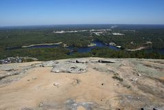 atop bergstensikt Royaltyfri Bild