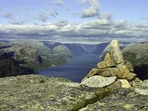 Atop Of A Norway Mountain Royalty Free Stock Image
