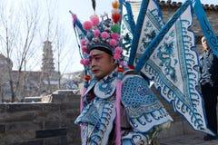 Ator da ópera de beijing na cerimônia do feriado Fotografia de Stock Royalty Free