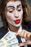 Ator do homem de negócios Imagem de Stock Royalty Free