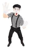 Ator masculino que imita com mãos Imagem de Stock Royalty Free