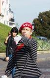 Ator parisiense da rua imagem de stock royalty free