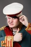 Ator vestido como Napoleon. ilustração royalty free