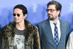Atores Akira Takayama e Roman Coppola em Berlinale 2018 imagem de stock royalty free
