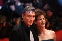 Atores alemães Oliver Masucci e Christiane Paul fotos de stock royalty free