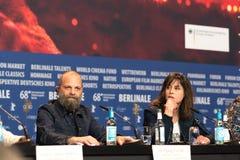 Atores alemães Susanne Wolff e Wolfgang Fischer em Berlinale 2018 fotografia de stock