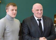 Atores Alexey e Igor Ogurtsova do russo fotos de stock royalty free