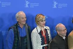 Atores Bill Murray, Greta Gerwig, Bob Balaban em Berlinale 2018 foto de stock royalty free