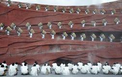Atores chineses da minoria no teatro ao ar livre por Fotos de Stock