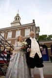 Atores de Ben Franklin e de Betsy Ross Fotografia de Stock Royalty Free