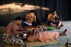 Atores de Kathakali fotografia de stock royalty free