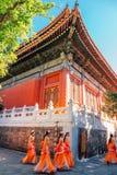 Atores do templo e do desempenho de Confucius no Pequim, China fotografia de stock royalty free