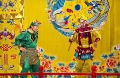 Atores do trupe da ópera de Beijing imagem de stock royalty free