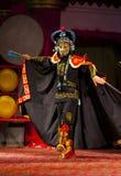 Atores do trupe da ópera de Sichuan foto de stock