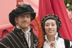 Atores Elizabethan Imagens de Stock