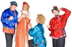 Atores em trajes do russo imagens de stock royalty free