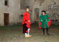 Atores em trajes históricos fotos de stock royalty free