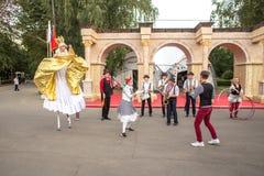 Atores em um festival de Turquia em Moscou foto de stock royalty free