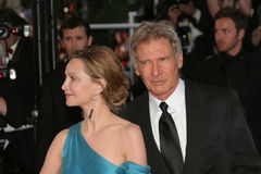Atores Harrison Ford e Calista Flockhart fotografia de stock royalty free