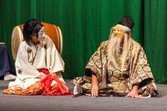 Atores japoneses do kabuki imagem de stock
