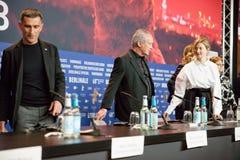 Atores Michele Carboni, Udo Kier, Alba Rohrwacher fotos de stock royalty free