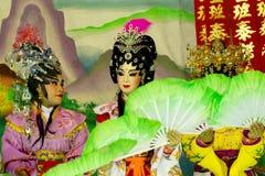 Atores não identificados do chinês Opera em China foto de stock