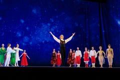 Atores na fase do teatro da ópera de Wroclaw imagem de stock