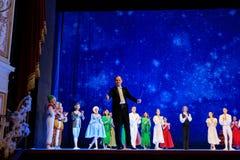 Atores na fase do teatro da ópera de Wroclaw imagem de stock royalty free
