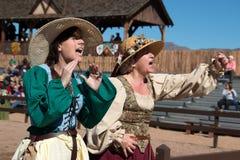 Atores no festival do renascimento do Arizona fotografia de stock