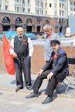Atores no quadrado vermelho em Moscou foto de stock