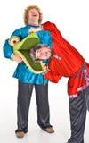 Atores nos trajes Imagem de Stock Royalty Free