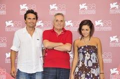Atores Pier Giorgio Bellocchio, diretor Marco Bellocchio e atriz Elena Bellocchio imagem de stock royalty free