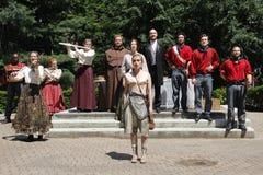 Atores que jogam Shakespeare fotos de stock royalty free