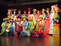 Atores que vestem trajes do chinês tradicional fotos de stock