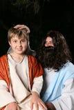 Atores religiosos fotografia de stock