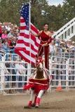 Atos de SureShot - irmãs, rodeio 2011 de Oregon Imagens de Stock